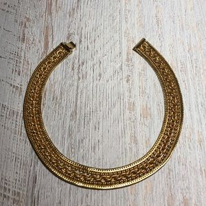 Gold Metal Collar Necklace